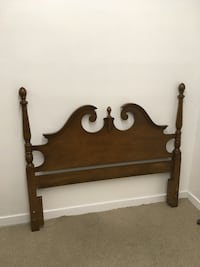 brown wooden bed headboard and footboard Abbotsford, V2T 2H3