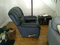black leather recliner sofa chair Rome, 30161