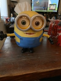 Bob highly collectable Minion talks one Brown eye One Green Eye.  London, N5Y 3L7