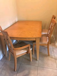 rectangular brown wooden table with 3 chairs El Cajon, 92020