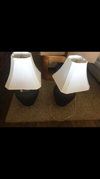 2 black table lamps Chicago