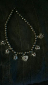 beaded gray necklace
