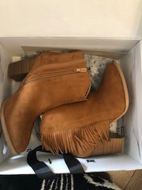 Suede boots- Brand new, size 7 Ajax, L1S 3J2