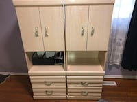 Two identical cabinets