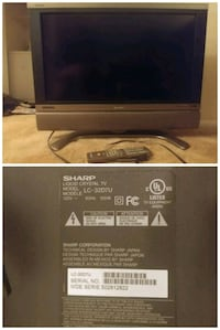 "Grey Sharp 32"" tv with original remote.  Germantown, 20874"