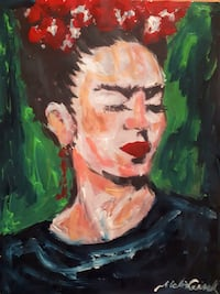 Original Artwork Abstract Portrait on Paper-Frida Kahlo  District of Columbia