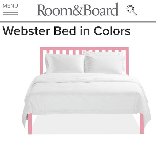 Full Size Bed Frame Room And Board Webster