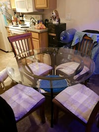 Glass top Table Chandler
