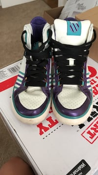white, purple and black high-top sneakers Norfolk, 23502