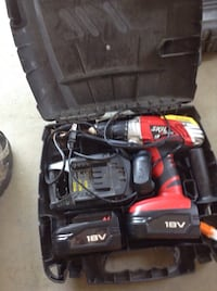 Skil cordless drill with 2 batteries and charger