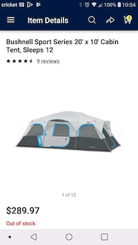 Bushnell 12-person tent Bowling Green, 42101