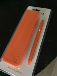 Orange Silicone Stationary Box with Pen Toronto, M5T 1S2