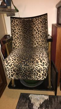 brown and black leopard print chair Vancouver, V6E 1J3
