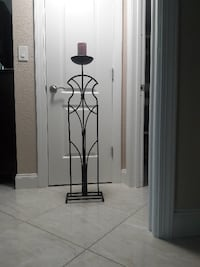 Black metal candle holder , 43 inch high ,  Pembroke Pines