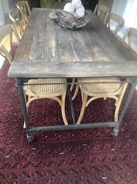 "Restoration Hardware Table And Six Chairs Selling As A Set Only. Length 72"" Width 36"" Height 30"" Bowie, 20720"
