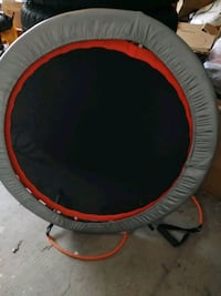 round red and black trampoline