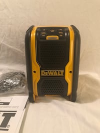 "Brand new never used DeWalt 8"" tall AC or DC operated blue tooth speaker. Tool only  2374 mi"