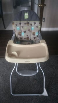 Two portable highchairs