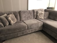 2 piece Gray Sectional with Left-Facing Chaise Alexandria