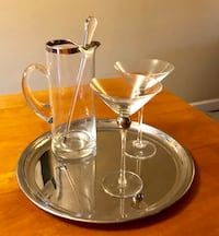 Martini pitcher, glasses and tray Fairfax, 22030