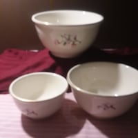 3 pc set HOMER LAUGHLIN Magnolia Serving Bowls - MAKE AN OFFER - PRICE IS NEGOTIABLE Charlotte