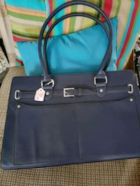 blue and black leather tote bag Methuen, 01844
