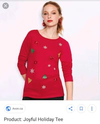Holiday Top.  New.  Size 2X Edmonton, T6M 2G7