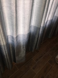 Blue slate curtain panels