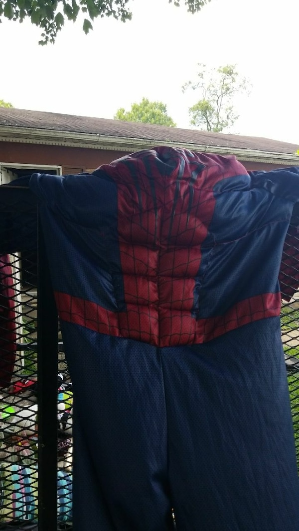 red and blue Spider-Man costume