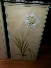 flower painting with wooden frame  Commack