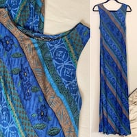 CAROLE LITTLE Vintage Rayon Maxi Dress, 14 Jenison, 49428