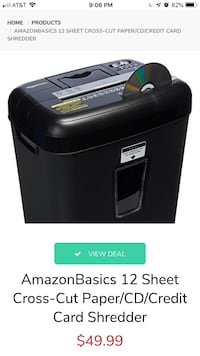 AmazonBasics Cross-cut shredder Alexandria, 22311