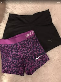 women's purple and black pants