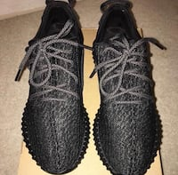 pair of pirate black adidas Yeezy Boost 350 shoes 2314 mi