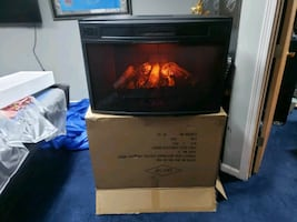 Westbrook Electric wifi fireplace with remote