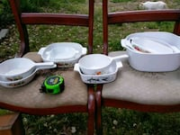 Pyrex dishes.  Nice set still available Highland Springs, 23075