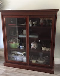 Lawyers Bookcase / Curio Display home or office solid wood cherry Lancaster, 93536