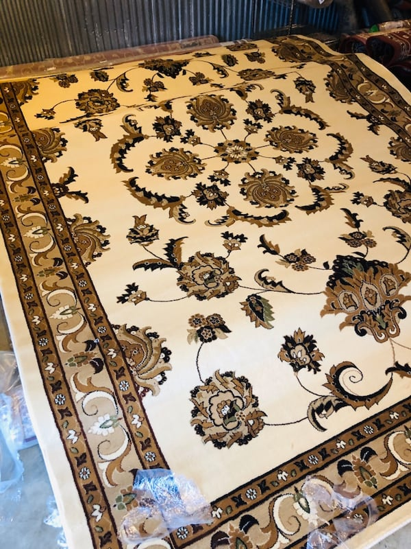 New large rug size 8x11nice beige tan carpet Persian style rugs 69273475-16bb-49dc-8911-d6e0a50a8484