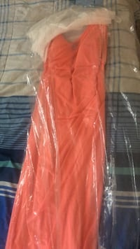 women's orange sleeveless dress District Heights, 20747