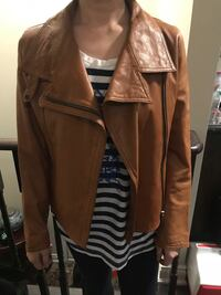 A/X Brown leather zip-up jacket, size 2 Toronto, M6C 2E5