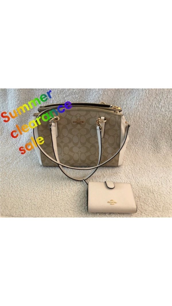 Summer Clearance Authentic Coach Purse And Wallet