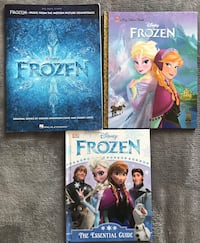 Disney FROZEN hard-books cover and FROZEN MUSIC FROM THE MOTION PICTURE SOUNDTRACK Series Big Note Songbook Alexandria, 22304