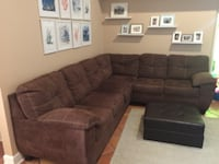 Brown Microfiber sectional-like new Port St. Lucie