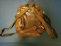 Authentic Brown Leather bag, new! Burke, 22015