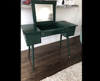 Mid century vanity table with mirror