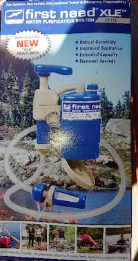 blue and white Campbell Hausfeld air compressor GUELPH