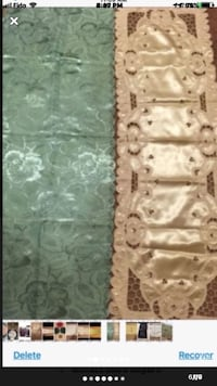 Table Cover Green or Golden Off White Toronto, M4A 2K5
