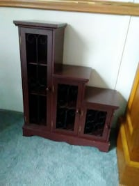 brown wooden TV hutch with flat screen television Dagsboro, 19939