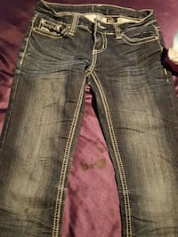 blue-washed denim jeans Overland Park, 66214