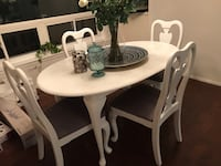 Cherry solid wood white and grey dining table set Toronto, M1G 2Y5